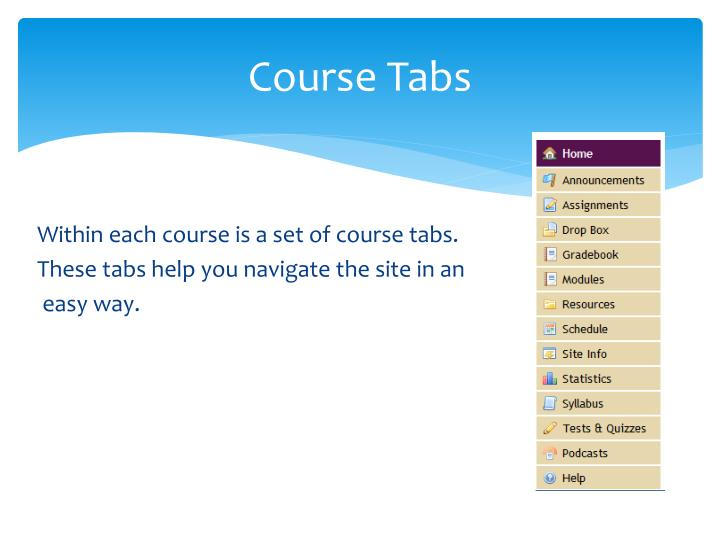 Course Tabs