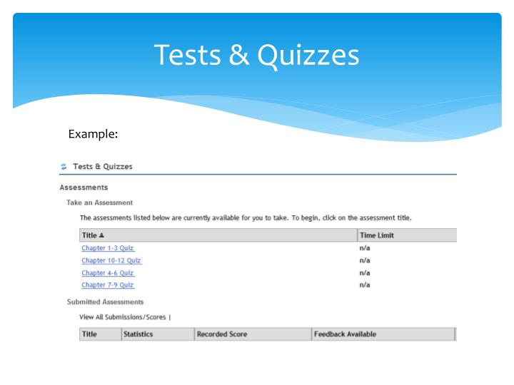 Tests & Quizzes