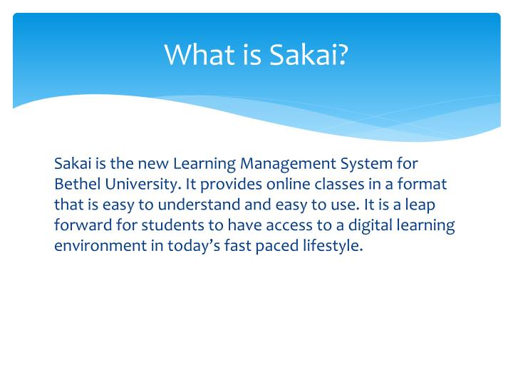 What is sakai