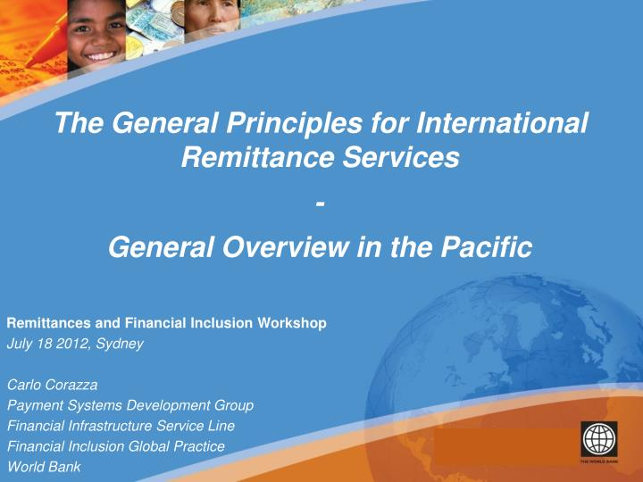 The General Principles for International Remittance Services