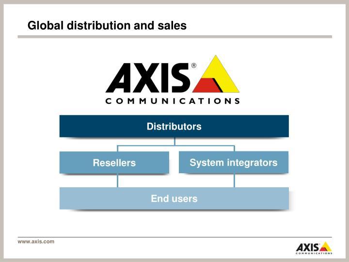 Global distribution and sales