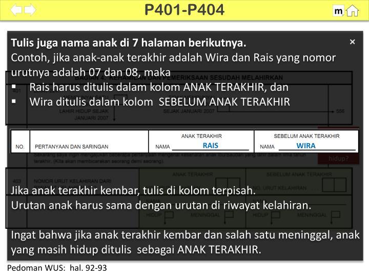 P401-P404