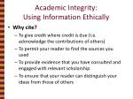 academic integrity using information ethically2