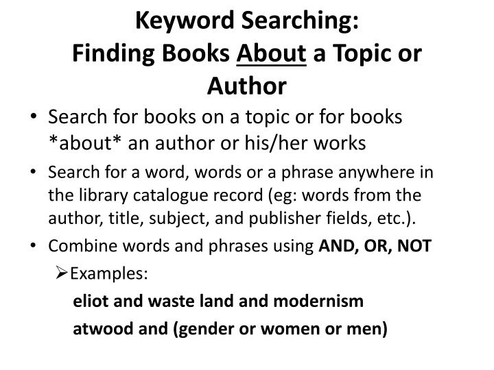 Keyword Searching: