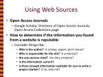 using web sources
