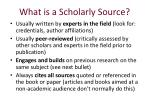 what is a scholarly s ource