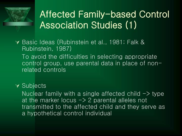 Affected Family-based Control Association Studies (1)