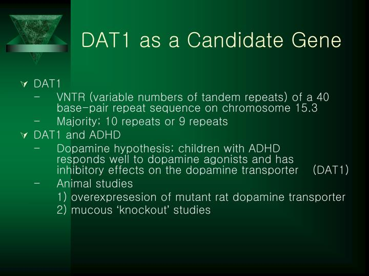 DAT1 as a Candidate Gene