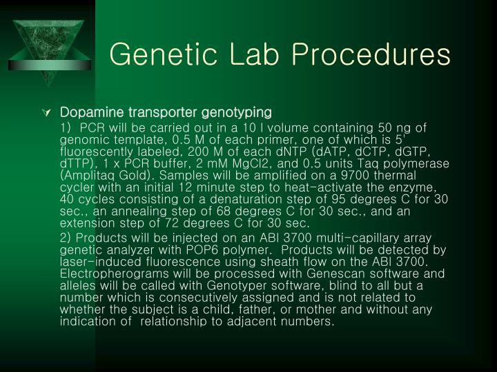 Genetic Lab Procedures