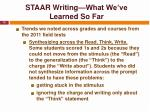 staar writing what we ve learned so far2