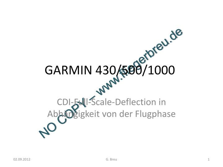 ppt - garmin 430  500  1000 powerpoint presentation
