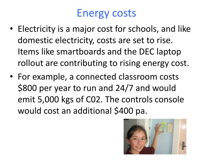 Energy costs