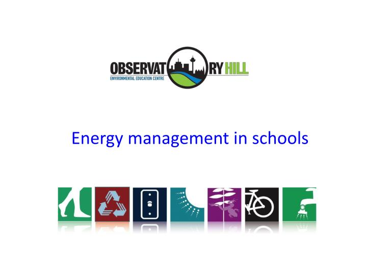 Energy management in schools