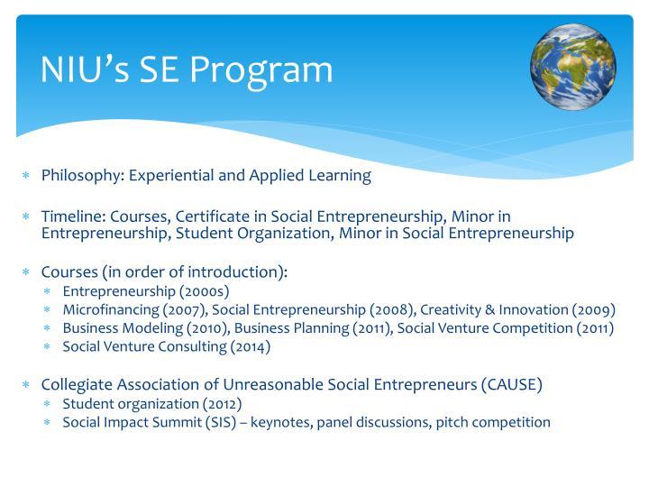 NIU's SE Program