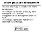 infant to icub development