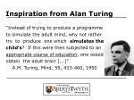 inspiration from alan turing