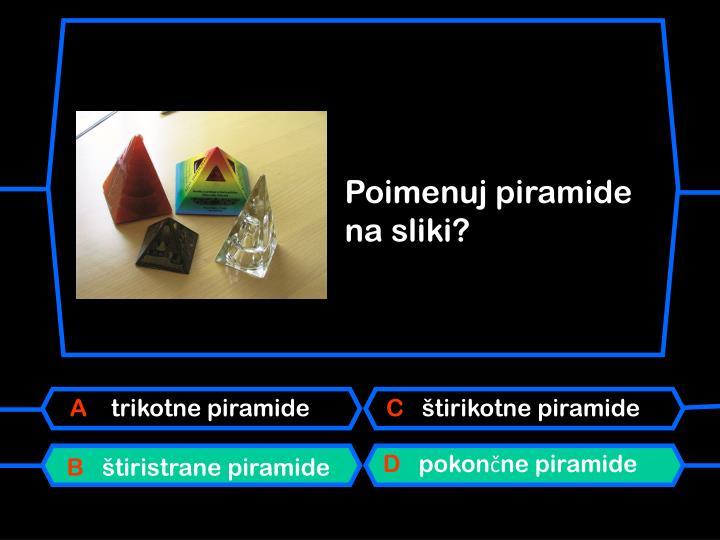 Poimenuj piramide na sliki?