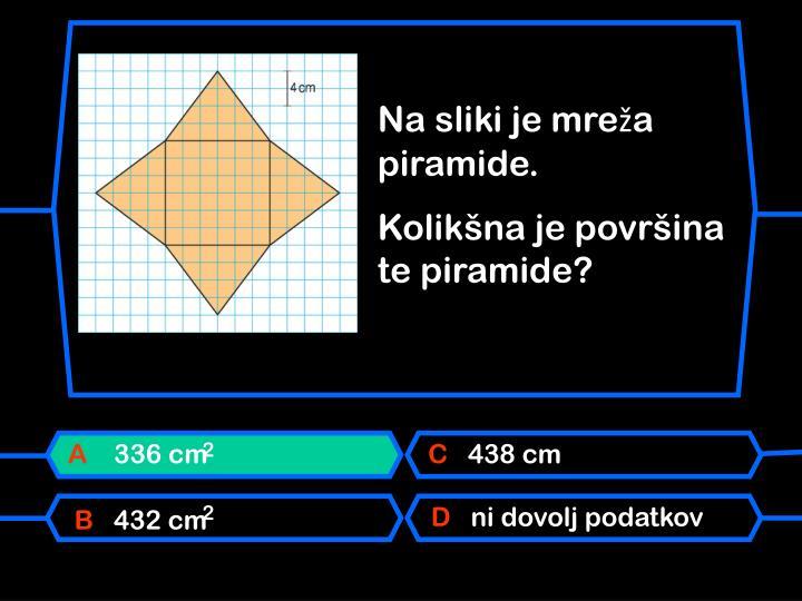 Na sliki je mreža piramide.