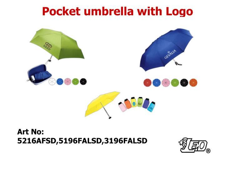 Pocket umbrella with Logo