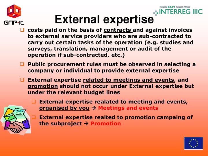 External expertise