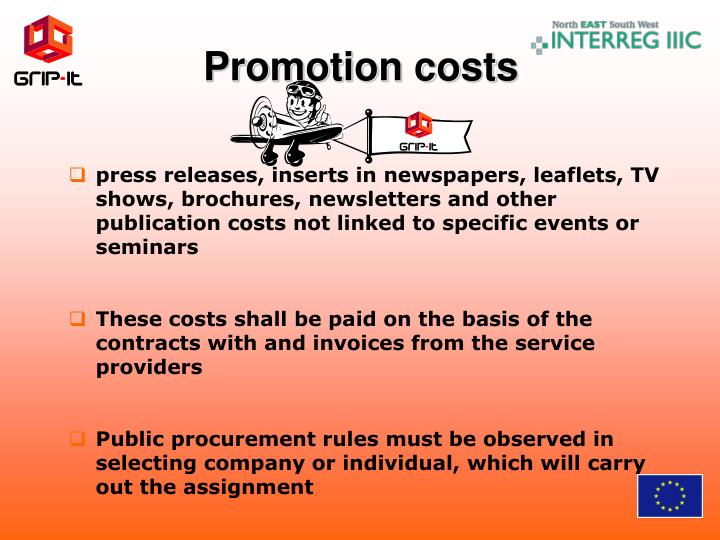 Promotion costs