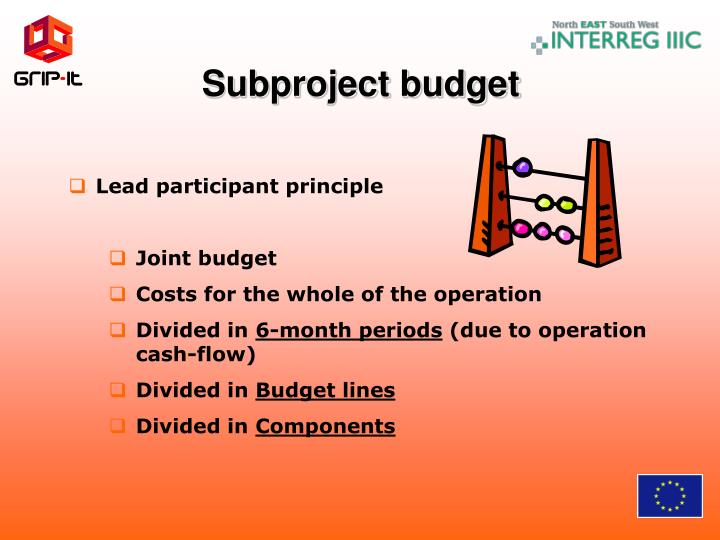 Subproject budget