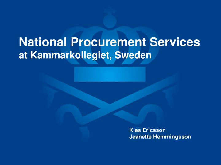 National Procurement Services