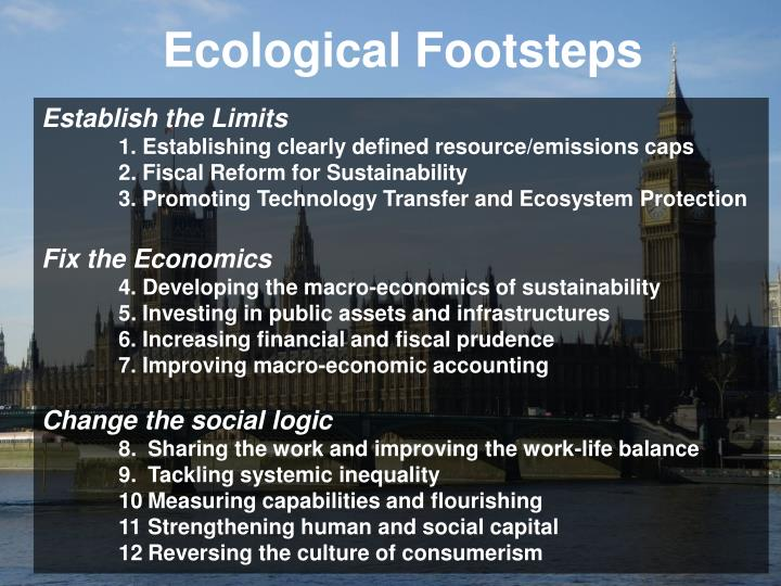 Ecological Footsteps