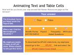 animating text and table cells