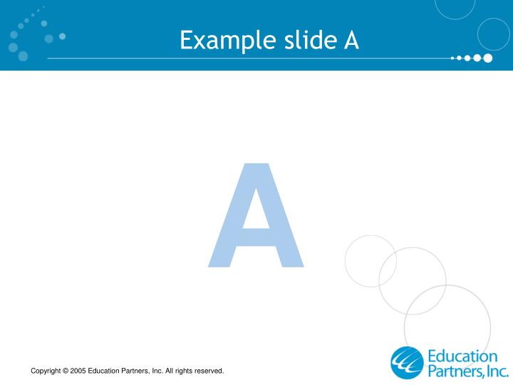 Example slide A