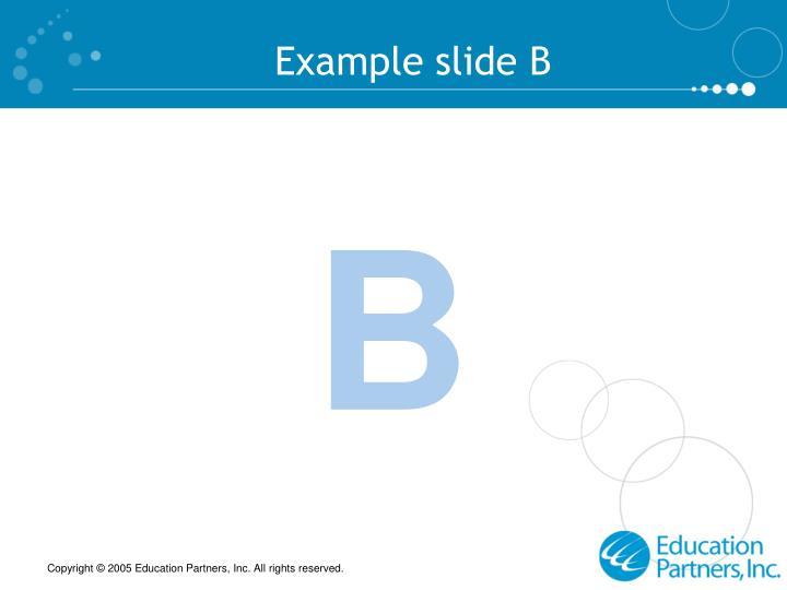 Example slide B