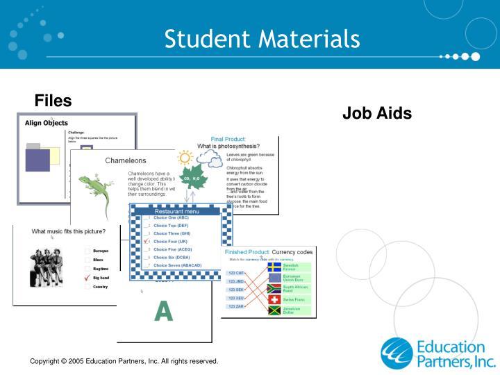 Student Materials
