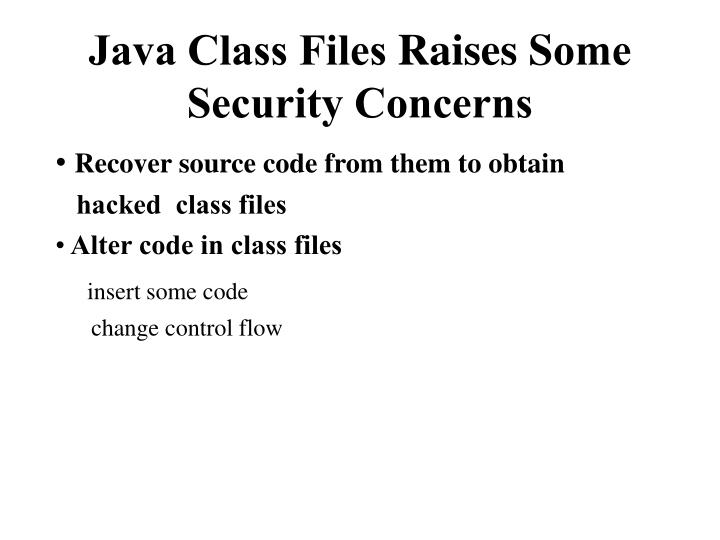 Java Class Files