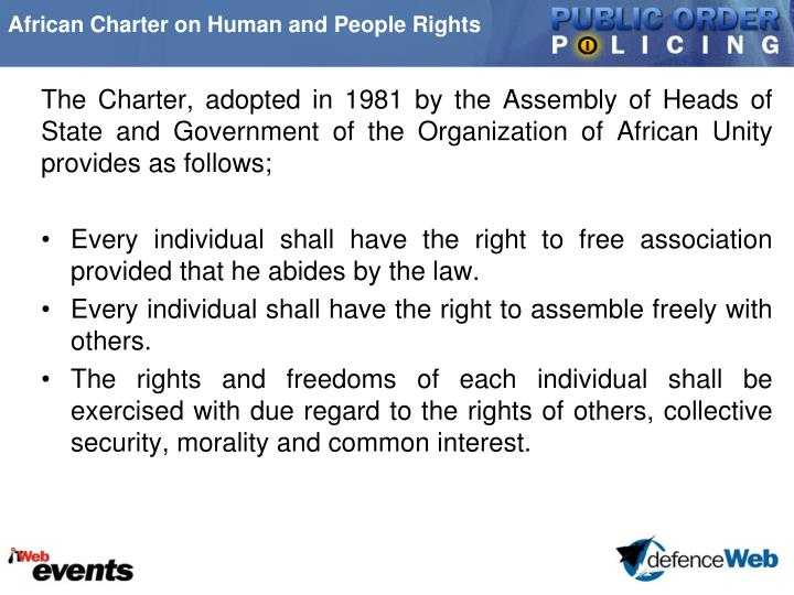 African Charter on Human and People Rights