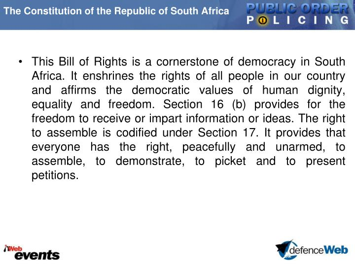 The Constitution of the Republic of South Africa