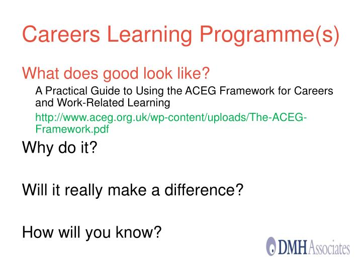 Careers Learning Programme(s)