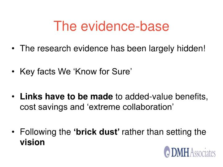 The evidence-base
