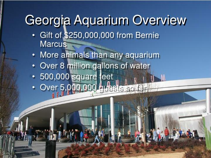 Georgia aquarium overview