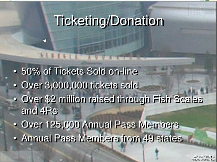 Ticketing/Donation