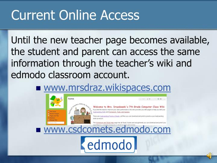 Current Online Access