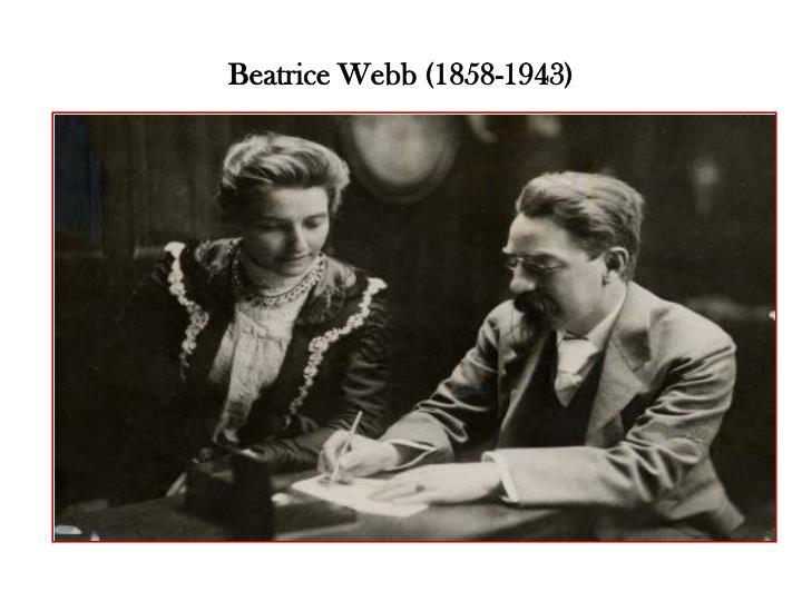 Beatrice Webb (1858-1943)