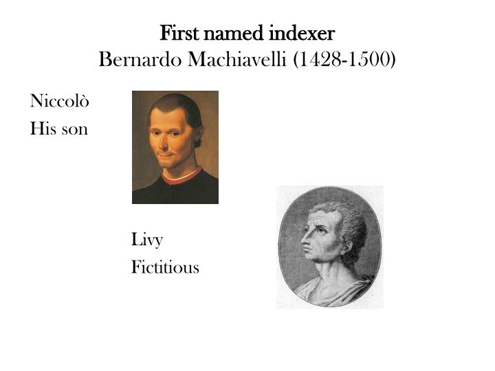 First named indexer