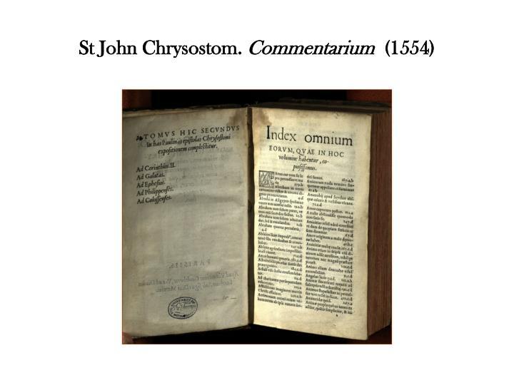 St John Chrysostom.