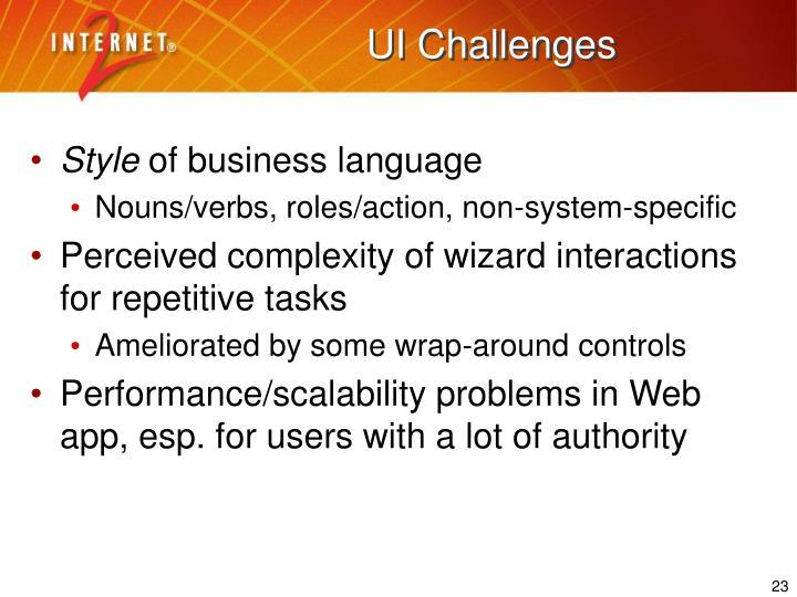 UI Challenges