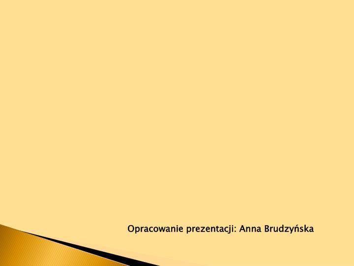 Opracowanie prezentacji: Anna