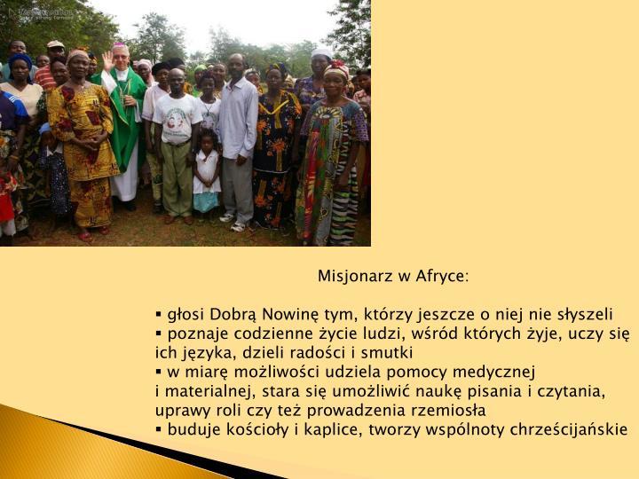 Misjonarz w Afryce: