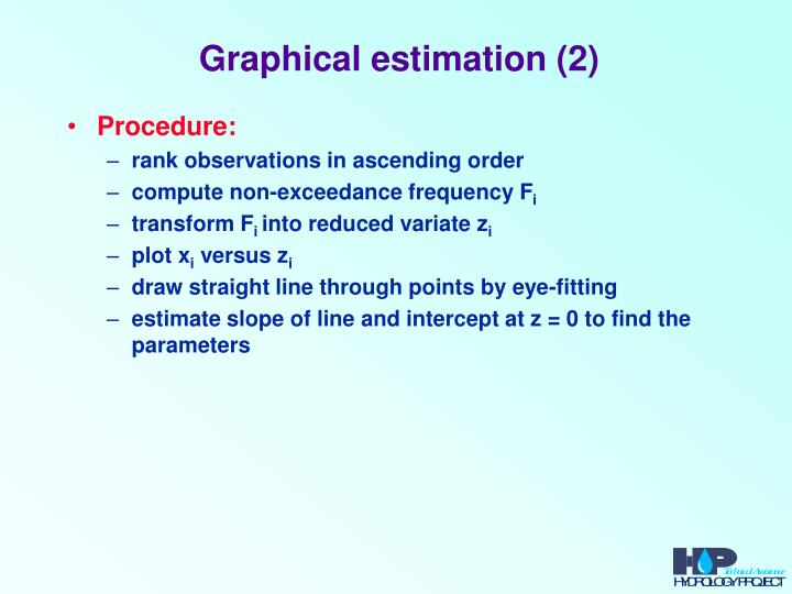 Graphical estimation (2)