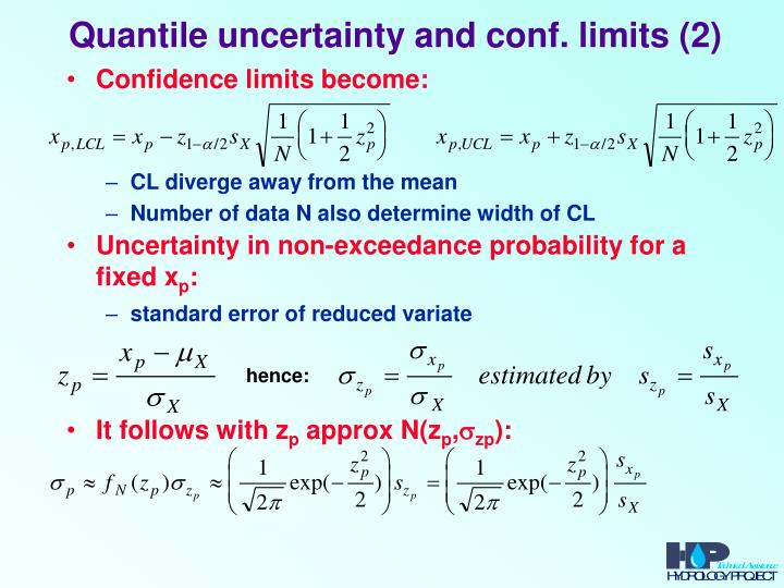 Quantile uncertainty and conf. limits (2)