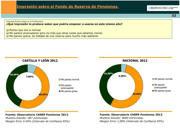 Impresión sobre el Fondo de Reserva de Pensiones.