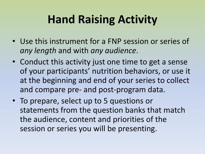 Hand Raising Activity